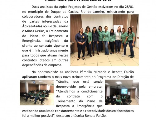 Treinamento para colaboradores do Rio de Janeiro.